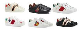 $enCountryForm.capitalKeyWord Australia - Designer Shoes Green Red Green Python Tiger Bee Snake Love Men Women Ace Genuine Leather Flat 2018 Fashion Casual Sneaker Shoe