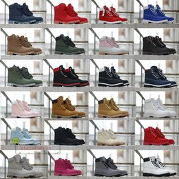 Wholesale cotton fabric black white flowers resale online - Winter Boots Leather Shoes Designer Men Women Ankle Boots Yellow Red Blue Black Pink Sports Athletic Shoes Size