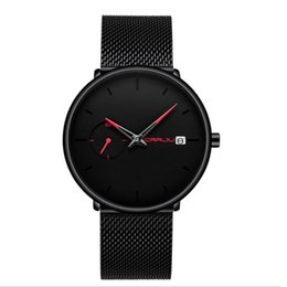 ultra thin watches mens UK - Sports Date Mens Watches Top  Waterproof Sport Watch Men Ultra Thin Dial Quartz Watch Casual Relogio Masculino