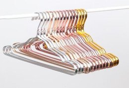 Household Alloys Australia - DHL aluminum hanger alloy no trace clothing support household Organization home anti-skid clothes hanging windproof rust proof rack 41*19CM