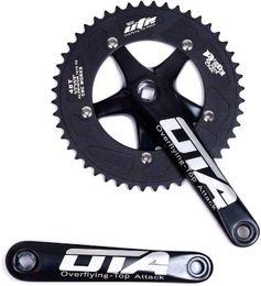 Ingrosso Bicicletta singola Bicycle CrankSet Bracci a manovella 170mm bracci a manovella 130 BCD Chainwheel 48T Fissoly CrankSet per bicicletta a velocità singola, bicicletta a ingranaggi fissi