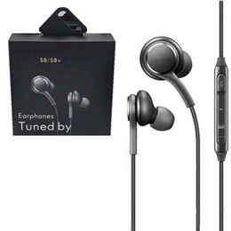 galaxy mic Canada - S8 Earbuds Earphones for Samsung Galaxy S8 Plus S7 S6 Edge Mobile Phone Handsfree Headphones with Mic fast shiping