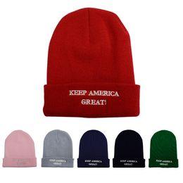 $enCountryForm.capitalKeyWord Australia - new Donald Trump hat 2020 Knit Hat Keep America Great Embroidered Skull Beanie Cap Outdoor Men Women Winter Ski Cap T2C5075