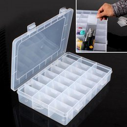 $enCountryForm.capitalKeyWord NZ - Life Essential 10 15 24 36 Compartment Storage Box Practical Adjustable Plastic Case for Bead Rings Jewelry Display