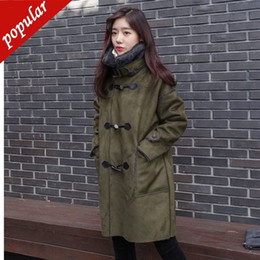 $enCountryForm.capitalKeyWord NZ - Winter Women Faux Lambs Wool Suede Leather Thick Warm Coat Female Loose Long Coats Horn Buttons Jackets Xs-xxl