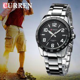 Mens Military Wrist Watches Australia - Curren Mens Watches Top Brand Luxury Military Wrist Watches Steel Men Business Watch Clock Waterproof Relogio Masculino Xfcs Y19052201