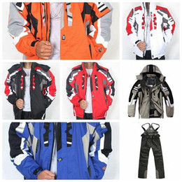 cream suit jacket men NZ - Ski Bib Suit Jacket Waterproof Snowboard Colorful Printed Ski Jacket and Pants Set suit for men and women