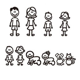 Car deCal family online shopping - 10pcs Fashion Stick Figure My Family Car Stickers with Pet Car Decal Sticker for Windows Bumper
