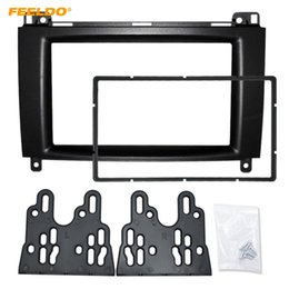 benz audio NZ - FEELDO 2Din Car Stereo Radio Fascia Frame for Mercedes-Benz B200 A-Class (W169) B-Class (W245) Audio Frame Refitting Kit #4398