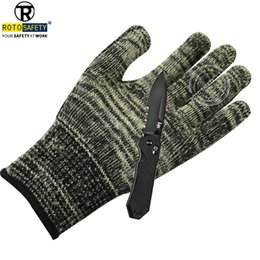 $enCountryForm.capitalKeyWord Australia - Cut Resistant Made with Stainless Steel Wire Gloves Level 5 Gloves Working Protective Safety Steel Army-Grade