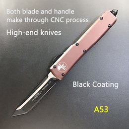 $enCountryForm.capitalKeyWord Australia - Automatic Micro-tech UTX-85 D E T E Double Action Auto knife CNC action tactical cutter gear knives D2 Blade 6061-T6 handle pocket knife