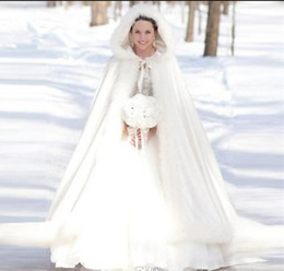 Warm Cloak Coat NZ - 2018 cheap Warm long Bridal Cape Winter Fur Women Jacket Bridal Christmas fur Floor Length bride Cloaks Long Party Wedding Coat