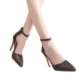 $enCountryForm.capitalKeyWord Australia - Designer Dress Shoes 2019 Summer Women Pointed Toe Pumps Dress High Heels Block Pointed Toe Party Wedding tenis feminino