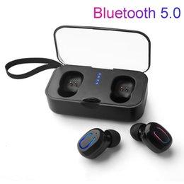 T18S Invisible Fones De Ouvido Bluetooth 5.0 TWS Mini Fones de Ouvido Estéreo Sem Fio Fone de Ouvido Baixo Profundo com caixa de carregamento Portátil venda por atacado