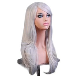 PurPle black cosPlay wigs online shopping - Wavy Fake Hairpieces Synthetic Hair Black Purple Pink Blue Cosplay Extra Long Wig For Women Wigs