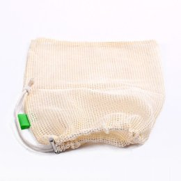 $enCountryForm.capitalKeyWord Canada - 3Pcs Reusable Produce Bags for Fruit Vegetable Drawstring Cotton Mesh Potato Onion Storage Bags Home Kitchen Organizer Supplies K213