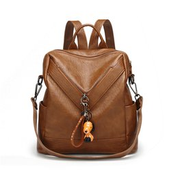 84fa7f5369dc Fashion Multi-function Ladies Backpack New High Quality Korean Student Soft  Leather Backpack Casual Trend Travel Bags Free Shipping