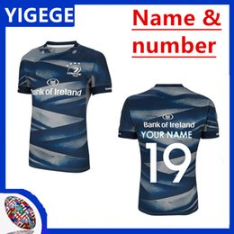 Wholesale 2019 LEINSTER HOME JERSEY LEINSTER rugby Jerseys Ireland Rugby Ireland IRFU Home Rugby Shirt size S XL can print