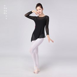 red long dancing dress Australia - New Products Dancing Dress Ballet Classical Taken Female Gymnastic Dance Gymnastics Body Gauze Dance Tops Adult Long Sleeve