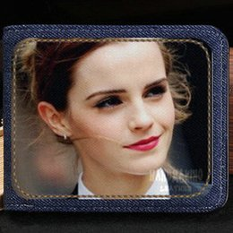 harry potter leather NZ - Emma Watson wallet Charlotte Duerre purse Harry Potter hot girl short cash note case Money notecase Leather jean burse bag Card holders
