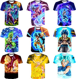 $enCountryForm.capitalKeyWord Australia - Anime Dragon Ball Z 3D Compression T-shirt Vegeta Super Saiyan Goku Gold Eye Men's High Easticity Slim Shirt Fitness cosplay Tee Tops