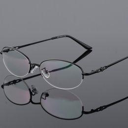 3b0cf418a83 Vintage Eyeglass Women Half Frame Myopia Optical Eyewear Frames Glasses  Clear Pink Red spectacle oculos de grau feminino