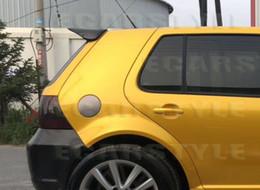 Опт Для VW Golf 4 spiler VW MK4 Спойлер Golf 4 99-04 Задний магистральная волоконно Spoiler Fiber Glass неокрашенной