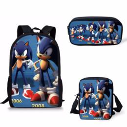 Discount gold hedgehog - Customized School Bags Sonic The Hedgehog Print School Backpack for Girls Boys Orthopedic Schoolbag Backpacks Children B