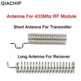 lighting antennas NZ - QIACHIP 2pcs 433MHz RF Spring Antenna RF Receiver Transmitter Module 433 MHZ For Smart Home Light Wireless Remote Control Switch