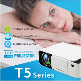 full hd media player vga NZ - Projector Mini LED LCD Projectors T5 3D Proyector Full HD 1080P Media Player Home Theater Supports HDMI VGA USB Xbox Game TV Beamer