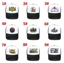 Wholesale 32 Style Fortnite Cap man baseball cap boys girls snapback summer Breathable hats bone man hip hop hat for women big kids funny caps