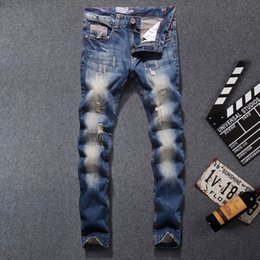 dsel jeans NZ - 2019 New Arrival Fashion Men Jeans Straight Fit Leisure Quality Biker Jeans Denim Trousers Dsel Brand Ripped Jeans men