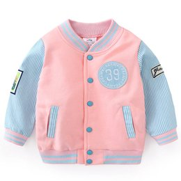 $enCountryForm.capitalKeyWord Australia - Baby Kids Patches Baseball Uniform Coat Spring Children's Clothes Outerwear Autumn New Boys Color-Blocking Spliced Jacket B212