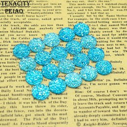 $enCountryForm.capitalKeyWord Australia - 20pc lot 12mm Light Blue Color Flat Back Diy Resin Cabochons Jewelry Findings for Earrings Bracelet Accessories Making