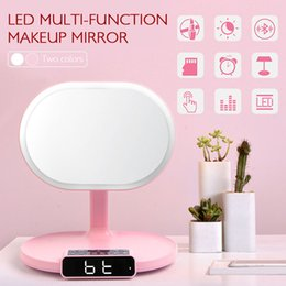 light up speakers 2019 - Touch Button Table Lamp Exquisite LED Light Bluetooth Speaker Alarm for Make Up Home Music for Desk Bedroom Cosmetic Mir