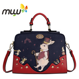 $enCountryForm.capitalKeyWord Australia - Contrast Color Vintage Cartoon Women Shoulder Bags Hard Pu Flap Handbag Zipper Closure Adjustable Strap Messenger Bag 7008210 Y19062003