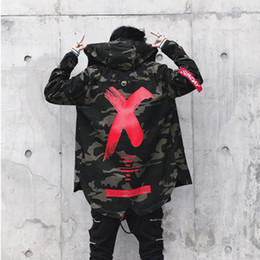 Wholesale harajuku jackets for sale – winter Hot Men Winter Outwear Jacket Clothes Casual Loose Slim Harajuku Mens Parkas Coats Hooded Print Casual Male Windbreaker Quilted Jackets