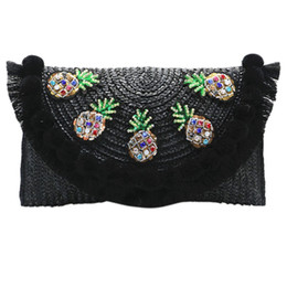 $enCountryForm.capitalKeyWord Canada - Beach Bag Straw Clutch Messenger Bag Envelope Women Lady Day Tassels Pineapple Summer Crossbody Bags