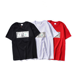 c150b8b7 Dollars Shirts UK - New Arrival Summer Creative Spoof Dollar Printed With  Short Sleeves T-