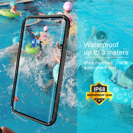 3m Iphone Australia - RedPepper Transparent Dot Series Waterproof Diving Underwater 3M For iphone xs xmax XR Samsung Galaxy S10 S10 Plus S9 S9 plus Note8 Note 9