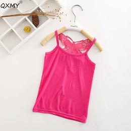 $enCountryForm.capitalKeyWord Australia - New Summer Lace T Shirt For Girls 3d Bow Cotton T Shirts Tops Kids Fashion Underwear Sleeveless Garment Clothing 2-8 Years