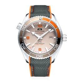$enCountryForm.capitalKeyWord Australia - Men Automatic Self Wind Mechanical Canvas Rubber Strap James Bond 007 Style Orange Blue Red Rotatable Bezel Classic Watch