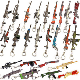 $enCountryForm.capitalKeyWord Canada - 12CM Game Peripheral Game Fortress Night Submachine Gun Rifle Weapon Model Keychain 23 Style for Women and Men