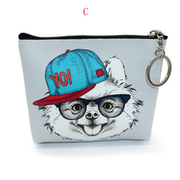 $enCountryForm.capitalKeyWord UK - Bags For Women Girls Printing Dog Snacks Coin Purse Wallet Bag Change Pouch Key Holder Brand Coin Purse Pu Leather
