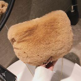 Ladies Lace Handbags Australia - 2019 Winter Fashion New Ladies Mini Phone Bag High Quality Soft Plush Women's Designer Handbag Chain Shoulder Messenger Bags