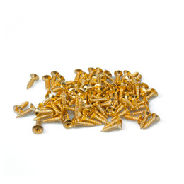 Wholesale NAOMI mm mm Electric Guitar Screws For Pickguard Back Plate Mount DIY Luthier Tool Pickguard Screws Guitar Parts Accessories New