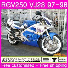 $enCountryForm.capitalKeyWord Australia - Bodys For SUZUKI SAPC RGV-250 VJ22 VJ21 RGV 250 97 98 99 Frame Top White Blue 19HM.88 RVG250 VJ23 RGV250 VJ 21 22 23 1997 1998 1999 Fairing