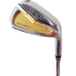 Gold Golf clubs online shopping - New Golf Clubs HONMA TW727V Golf irons Gold stars irons Set Steel or Graphite shaft R or S Golf shaft