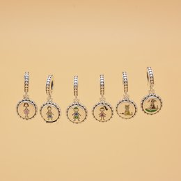 $enCountryForm.capitalKeyWord Australia - Family Silver Stick Figure Charms include Mom Boy Girl Animal Fit European Style Bracelets Necklace Woman Jewelry TTA993