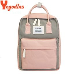 back packs teenager Australia - Yogodlns Campus Women Backpack School Bag For Teenagers College Canvas Female Bagpack 15inch Laptop Back Packs Bolsas Mochila Y19051405